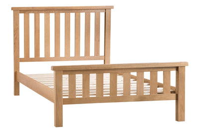 Cotswold Natural Oak Wooden Bed Frame - The Oak Bed Store