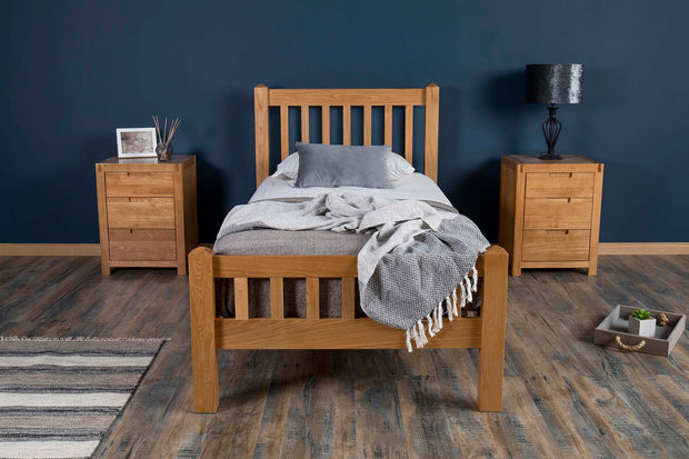 Emporia Solid Oak Bed Frame 3ft - Single - The Oak Bed Store