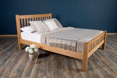 Emporia Solid Natural Oak Bed Frame 5ft - King Size - The Oak Bed Store