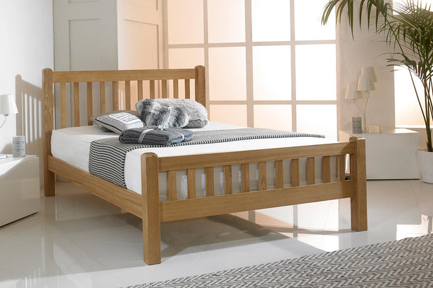 Emporia Solid Oak Bed Frame 4ft6 - Double - The Oak Bed Store