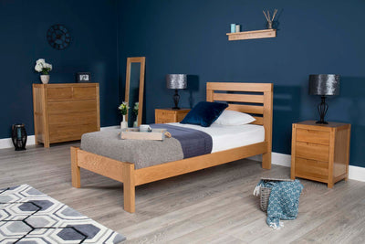 Goodwood Solid Natural Oak Bed Frame 3ft - Single - The Oak Bed Store