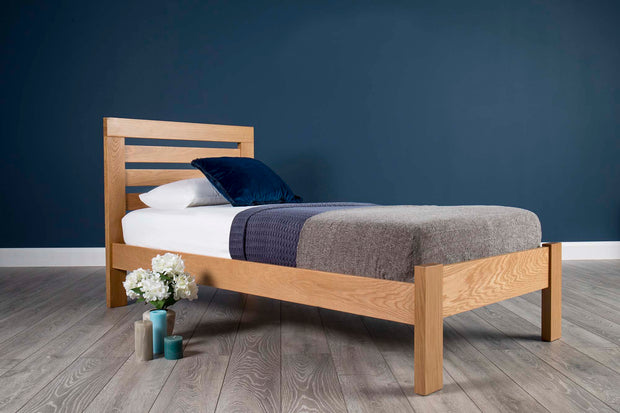 Goodwood Solid Oak Bed Frame 3ft - Single - The Oak Bed Store