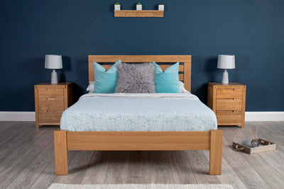 Goodwood Solid Oak Bed Frame 5ft - King Size - The Oak Bed Store