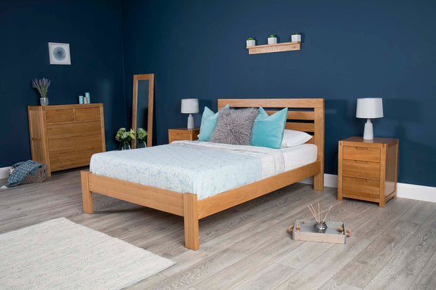 Goodwood Solid Natural Oak Bed Frame 4ft6 - Double - The Oak Bed Store