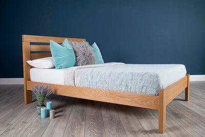 Goodwood Solid Natural Oak Bed Frame 4ft - Small Double - The Oak Bed Store