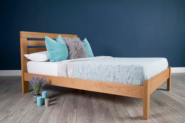 Goodwood Solid Natural Oak Bed Frame 5ft - King Size - The Oak Bed Store