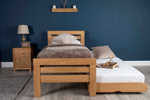 Goodwood Solid Oak Guest Bed - 3ft Single