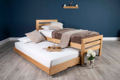 Goodwood Solid Natural Oak Guest Bed - 3ft Single