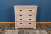 Hampshire White Washed Natural Oak 2 Over 3 Drawer Chest of Drawers