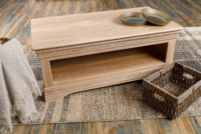 Hampshire White Washed Natural Oak Coffee Table