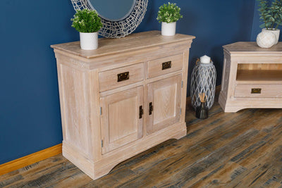 Hampshire White Washed Natural Oak Small Sideboard