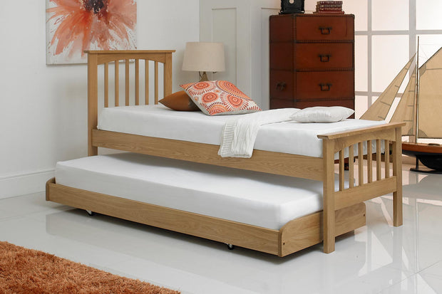 Heywood Solid Natural Oak Guest Bed - 2ft6 Small Single - The Oak Bed Store