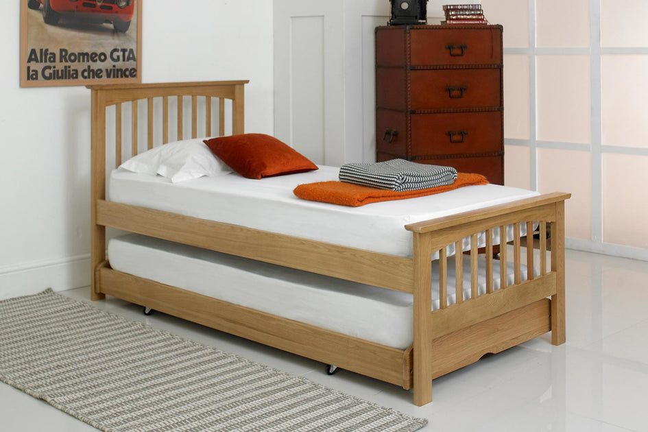 Heywood Solid Oak Guest Bed 3ft Single The Oak Bed Store