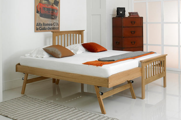 Heywood Solid Oak Guest Bed - 3ft Single - The Oak Bed Store