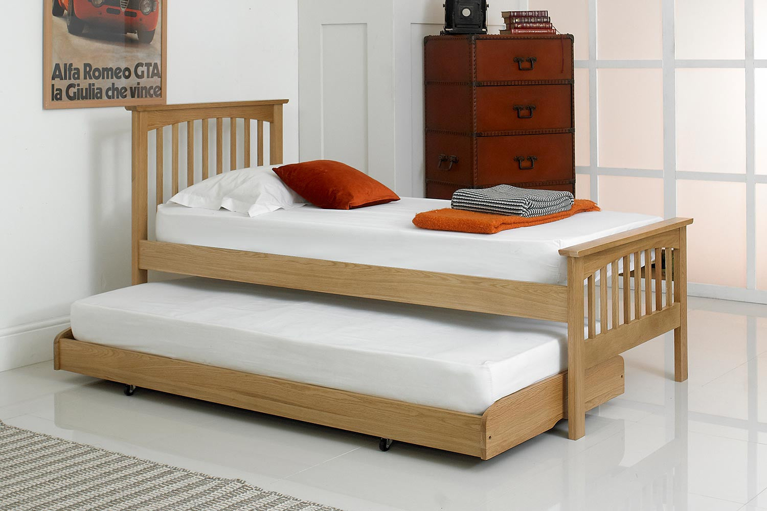 Heywood Solid Oak Guest Bed - 3ft Single