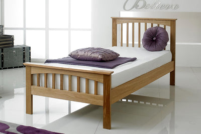Heywood Solid Oak Bed Frame 3ft - Single - The Oak Bed Store