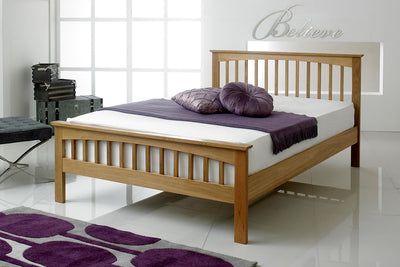 Heywood Solid Oak Bed Frame 4ft6 - Double - The Oak Bed Store