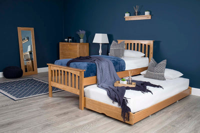 Heywood Solid Oak Guest Bed (40mm Spindles) - 3ft Single