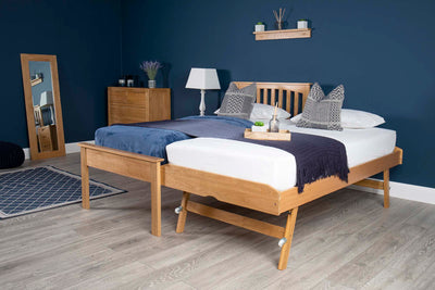 Heywood Solid Oak Guest Bed (Low Foot End) - 3ft Single