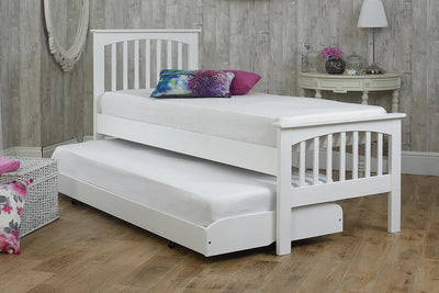 Heywood White Solid Wood Guest Bed - 2ft6 Small Single - The Oak Bed Store