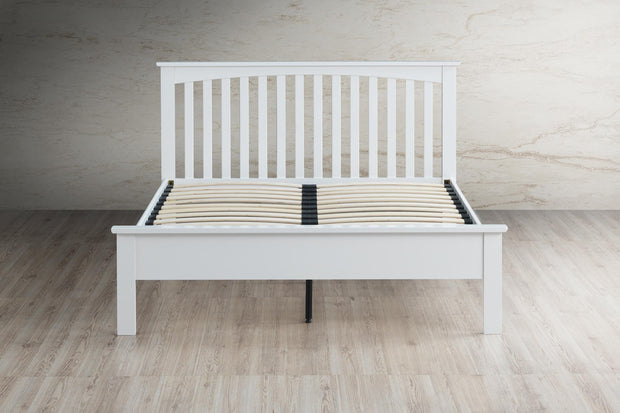 Heywood Bright White Solid Wood Bed Frame 4ft - Small Double - The Oak Bed Store