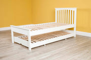 Heywood White Solid Wood Guest Bed (Low Foot End) - 3ft Single - The Oak Bed Store