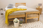 Heywood Solid Natural Oak Guest Bed (40mm Spindles) - 3ft Single - The Oak Bed Store