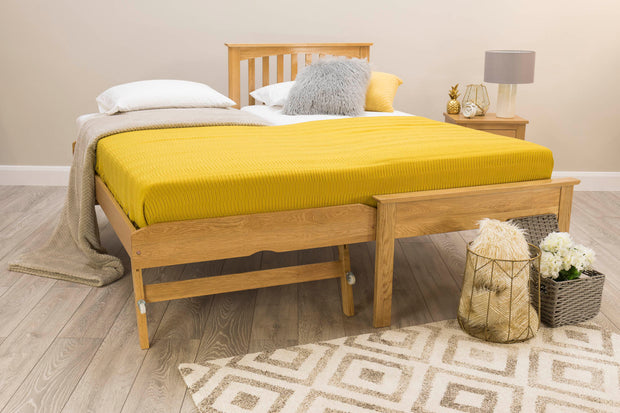 Heywood Solid Oak Guest Bed (Low Foot End) - 3ft Single - The Oak Bed Store