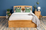 Royal Ascot Medium Oak Ottoman Storage Bed Frame - 4ft6 Double