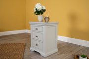 Westcott Light Grey 2 + 1 Drawer Bedside Table - The Oak Bed Store