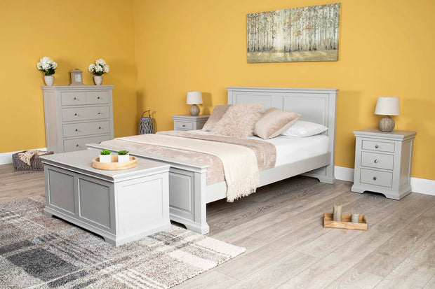 Westcott Light Grey Blanket Box - The Oak Bed Store