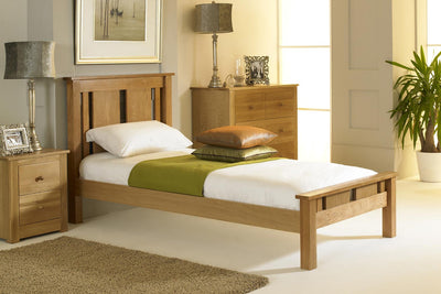 Lyon Solid Oak Bed Frame 3ft - Single - The Oak Bed Store