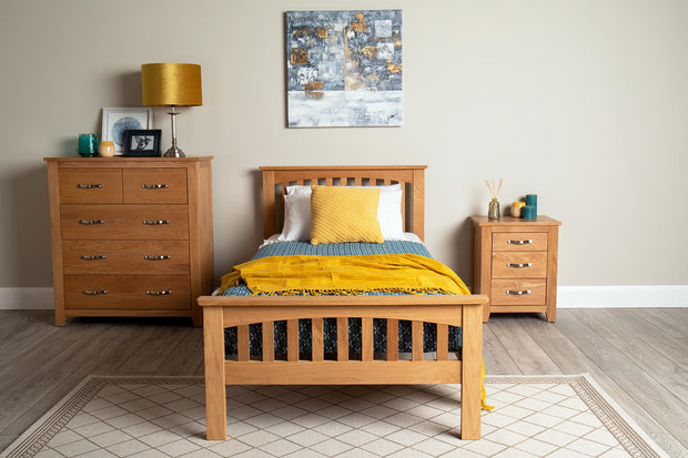 Madrid Solid Oak Bed Frame 3ft - Single