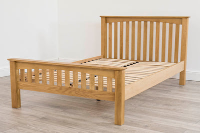 Milan Solid Oak Bed Frame 4ft6 - Double - The Oak Bed Store