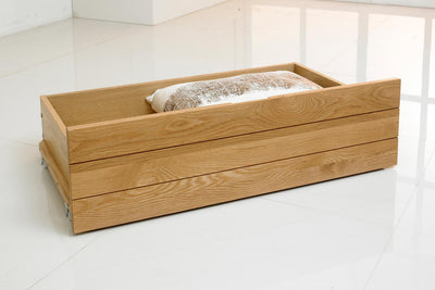 Natural Oak Under Bed Drawer - The Oak Bed Store