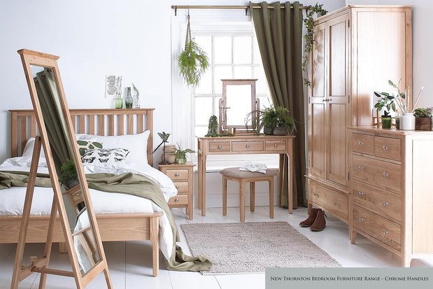 New Thornton Extra Large 3 Drawer Bedside Table - The Oak Bed Store
