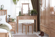 New Thornton Dressing Table Stool - The Oak Bed Store