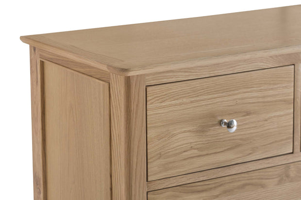 New Thornton Large 2 Over 3 Chest of Drawers - The Oak Bed Store