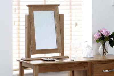 Thornton Oak Dressing Table Mirror - The Oak Bed Store