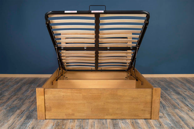 Goodwood Oak Ottoman Storage Bed Frame - 5ft King Size - The Oak Bed Store