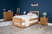 Portman Solid Natural Oak Guest Bed - 3ft Single - The Oak Bed Store