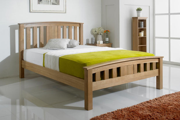 Royal Ascot Solid Natural Oak Bed Frame 4ft6 - Double - The Oak Bed Store