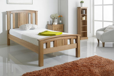 Royal Ascot Solid Oak Bed Frame 3ft - Single - The Oak Bed Store