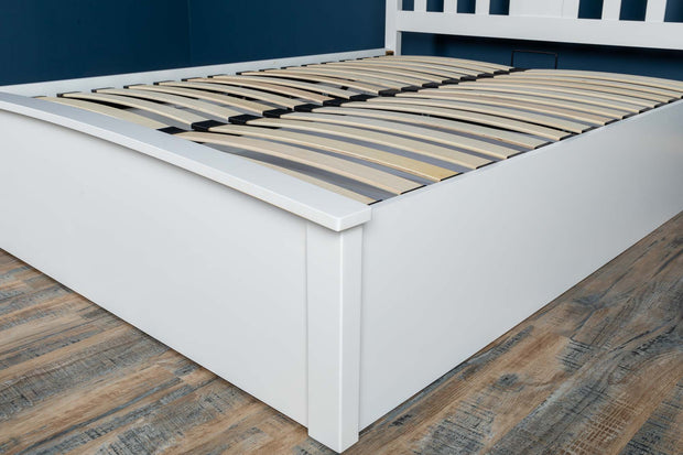 Royal Ascot Bright White Ottoman Storage Bed Frame - 4ft6 Double