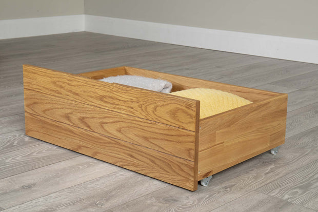 Rustic Oak Under Bed Drawer - The Oak Bed Store