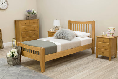 Salisbury Solid Oak Bed Frame 3ft - Single - The Oak Bed Store