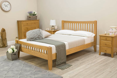 Salisbury Solid Oak Bed Frame 5ft - King Size - The Oak Bed Store