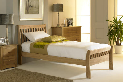 St George Light Solid Oak Bed Frame 3ft - Single - The Oak Bed Store