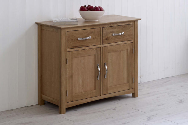 Thornton Oak Narrow Dresser Base - The Oak Bed Store