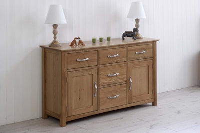 Thornton Oak Wide Dresser Base - The Oak Bed Store